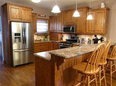 oak kitchen designed by k.l. design