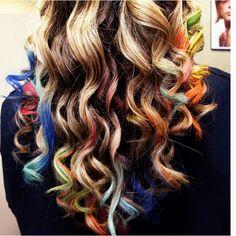 Hair chalking I did on my friend :)
