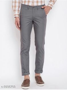 Trousers Trendy Stylish Cotton Men's Trousers Fabric: Cotton Waist Size: 28 in 30 in 32 in 34 in 36 in Length: Up To 40 in Type: Stitched Color: Grey Description: It Has 1 Piece Of Men's Trouser Country of Origin: India Sizes Available: 28, 30, 32, 34, 36 *Proof of Safe Delivery! Click to know on Safety Standards of Delivery Partners- https://ltl.sh/y_nZrAV3  Catalog Rating: ★4 (1846)  Catalog Name: Trendy Stylish Cotton Men's Trousers Vol 15 CatalogID_555091 C69-SC1212 Code: 364-3938709-