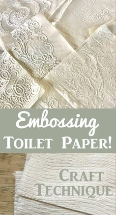Learn how to Emboss Toilet paper! You will not believe how incredibly gorgeous this technique is! Perfect for Cards, Junk Journals and other Paper Crafting projects. By Rebecca Parsons for The Graphics Fairy. Card Making Tips, Card Making Techniques, Making Ideas, Photoshop Elements Tutorials, Card Tutorials, Graphics Fairy, Junk Journal, Embossing Techniques, Decoupage