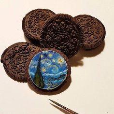 Art Hoe Aesthetic, Night Aesthetic, Vincent Van Gogh, Starry Night Art, Van Gogh Art, Van Gogh Paintings, Wow Art, Objet D'art, Artsy Fartsy