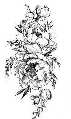 60+ best Ideas for tattoo flower vintage peony ink #tattoo Vintage Blume Tattoo, Vintage Flower Tattoo, Flower Skull, Flower Tattoo Designs, Tattoo Vintage, Flower Vintage, Vintage Floral Tattoos, Flower Bird, Flower Colour