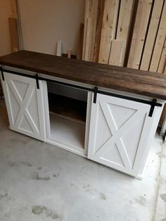 With overwhelming attention, The Plane & Nail Co. has added the Sliding Barn Door Console Cabinet to our catalog. See more info here http://www.theplaneandnailco.com/shop and message me for any questions you may have!!!!
