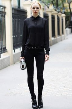Sexy Sheer Long Sleeve Slim Blouse
