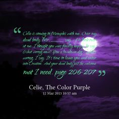 Color Purple Quotes Beauteous Harpo Color Purple Quotes  Google Search  The Color Purple  Pinterest