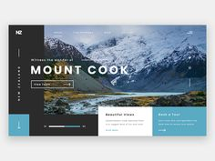 Cook NZ Great work from a designer in the Dribbble community; your best resource to discover and connect with designers worldwide.Great work from a designer in the Dribbble community; your best resource to discover and connect with designers worldwide. Website Layout, Web Layout, Layout Design, Website Slider, Website Web, Website Ideas, Travel Website Design, Travel Design, Great Website Design