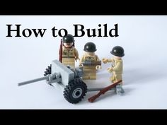 Tutorial: How to Build Anti-Tank Gun [Deutsch] Lego Soldiers, Lego Ww2, Lego Army, Lego Custom Minifigures, Lego Guns, Lego Videos, Arte Cyberpunk, Lego Worlds, Lego Projects