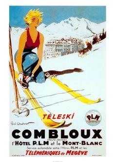 ski bunny poster.