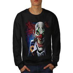 Joker #clown mask death #horror men #sweatshirt s-7xl new | wellcoda,  View more on the LINK: http://www.zeppy.io/product/gb/2/272404799345/