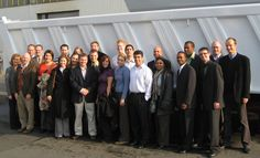 Massey MBA and MACC students on our November 2008 study abroad trip to Prague, Czech Republic. This was one of our group shots at the Meiller Kippers production facility for industrial loaders. Prague Travel, Group Shots, Prague Czech, Travel Abroad, Study Abroad, Czech Republic, Trips, November, Students
