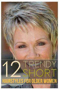 Short Hair Over 60, Short Thin Hair, Short Hair Older Women, Short Grey Hair, Haircut For Older Women, Haircuts For Fine Hair, Short Pixie Haircuts, Short Hair With Layers, Short Hairstyles For Women