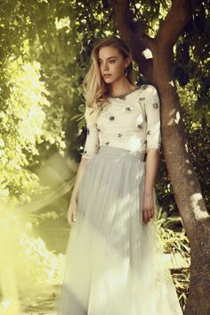 Evening and wedding gowns with sleeves   Shop Mode-sty for stylish modest clothing #nolayering