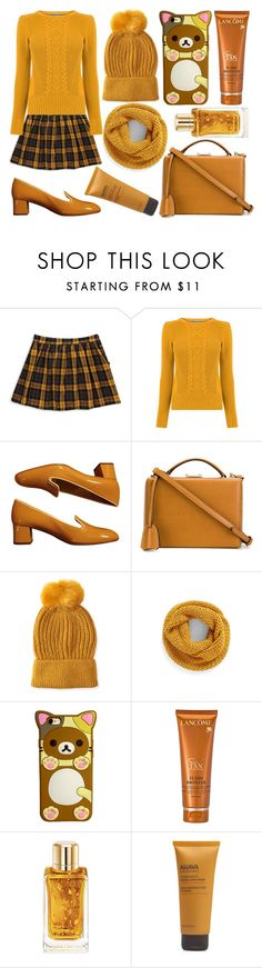 """""""Sans titre #5651"""" by crazymoustik ❤ liked on Polyvore featuring Forever 21, Prada, Mark Cross, Aéropostale, BP., Lancôme and Ahava"""