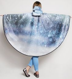 Sparkly Rain Drops Waterproof Poncho Cape - PonchU Waterproof Poncho, Rain Poncho, Rain Wear, Rain Drops, Capes, Ballet Skirt, How To Wear, Collection, Fashion