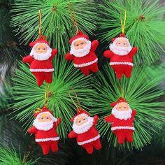 Hot Koop 6 Stks Kerst Kerstman Ornamenten Festival Party Kerstboom Opknoping Decoratie 7JMR in Dit is een zeer effectieve mooie santa claus decoratie die ziet er geweldig uit op het plafond of aan de overkant van ee van kerst op AliExpress.com | Alibaba Groep