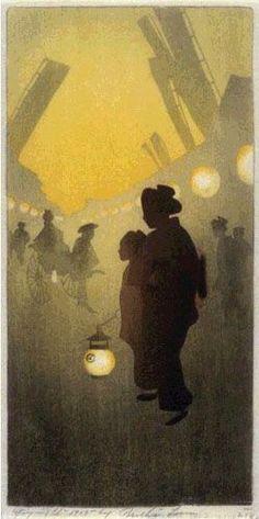 Theatre Street  by Bertha Lum, 1905