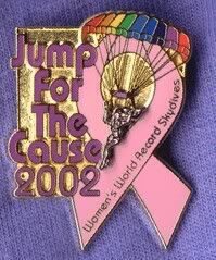 Jump For The Cause 2002. World record all female formation skydive = 131 of us. Biggest skydive I've ever been on - and my only world record.