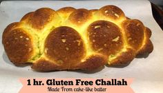 1 hour Gluten Free Challah made with coconut flour and no yeast or no dairy.