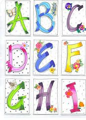 Nice letters of the alphabet...