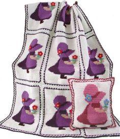 Maggie's Crochet · Sunbonnet Sue Afghan and Pillow Crochet Patterns