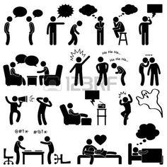 Man People Talking Thinking Conversation Thought Laughing Joking Whispering Screaming Chatting Icon Symbol Sign Pictogram - stock vector People Icon, People Talk, Clipart, Illustrations Médicales, Person Icon, Stick Figure Drawing, Communication Icon, Emotion, Stick Figures