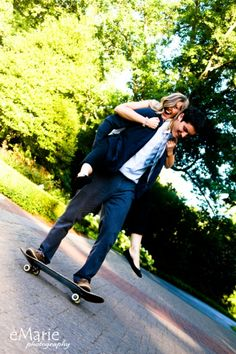 couple on skateboard - photo by eMarie Photography