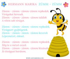 Méhecske vers ovisoknak :) Bugs And Insects, Children, Kids, Poems, Thankful, Teaching, School, Young Children, Young Children
