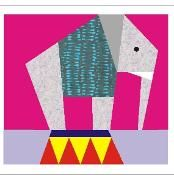 Circus elephant quilt block - via @Craftsy