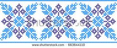 Embroidered Pattern On Transparent Background Stock Vector (Royalty Free) 663644110 Tapestry Crochet, Knit Crochet, Embroidery Patterns, Cross Stitch Patterns, Quilt Blocks, Needlepoint, Diy And Crafts, Illustration, Crafty