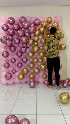 Birthday Balloon Decorations, Birthday Balloons, Decoraciones Eid, Balloon Bouquet, Instagram, Ideas, Shape, Valentines Day Weddings, Garlands