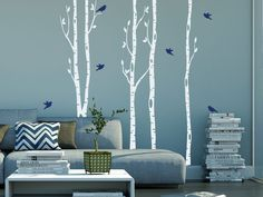 Magic Stickers - Sticker décoratif mural sticker arbres bouleaux