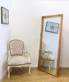 Ornate Styled Bevelled Gold Mirror