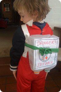 Milk Jug Rocket Pack. #diy #milkjugs