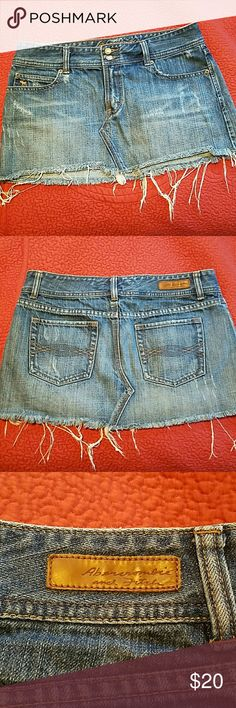 Distressed Jean skirt Only worn a few times so it's in excellent condition. As pictured above Abercrombie & Fitch Skirts Mini