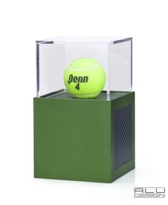 A great gift idea for golf or baseball or tennis ball, will make a lasting impression. Add a logo or text to the front or back of the cube. 1ST PLACE A Modern Tennis Ball Display Case Anodized Green Aluminum with Black Carbon Fiber look. Modern Tennis Ball Display. German Design MADE IN USA by ALU DESIGN modern tennis accessories #tennisballdisplay #moderntennis #tennistrophy #tennisdisplay #tennisgift #tennisball #tennisaccessories Wibledon Green Tennis Ball Display