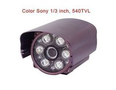 "S-3008IIIA3 1/3"" SONY CCTV CCD NTSC 540TVL 12 LED IR Waterproof Security Wired Color Camera (Purple) by QLPD. $256.84. This surveillance camera is mainly used for anti-theft and very easy to install."