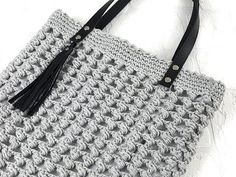 MINI BAG PORTACELLULARE uncinetto crochet PUNTO POPCORN - YouTube