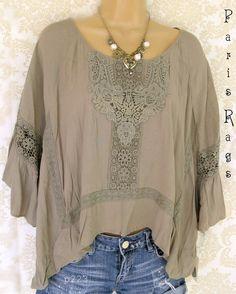 Boho blouse from Shabby Roses Studio