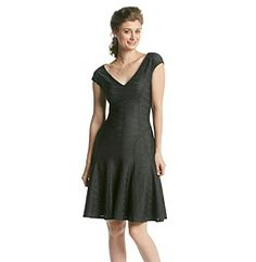 Product: Anne Klein® Seamed Rope Fit And Flare Dress