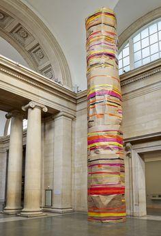 Phyllida Barlow - Installation view: 'dock', Duveen Commission, Tate Britain, London, England, 2014