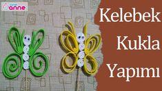 Kelebek Kukla Yapımı - Kendin Yap - DIY - Okul Öncesi Fikirler - Canım Anne