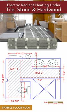 Radient Floor Heating, Installing Heated Floors, Heated Tile Floor, Floor Heater, Electric Underfloor Heating, Radiant Floor, Shed Homes, Radiant Heat, Types Of Flooring