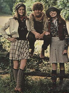 October 1972. 'Back to basics. Jeff East as Huck Finn and two of the country crowd in natural-colored classics.'