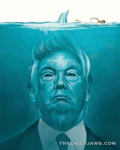 TODAY is an historic day, not just for the United States but for the World and felt we should it acknowledge it in some way. We were sent much Trump/Jaws art work in the lead up the inauguration. We felt this was the best and wanted to share it with you. Whatever happens during President Trump's administration, we will be here everyday of it spreading the love of the greatest movie ever made, JAWS. As always, we welcome comments on our posts and as always, we ask that you are respectful of…