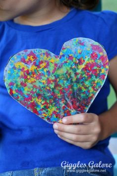 Support the Crayons and use them all to make Wax Paper Melted Crayon Art