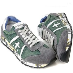 Bamba premiata 2015 Running Sneakers, Running Shoes, Shoes Sneakers, Premium Brands, Best Wear, Signature Logo, Bambi, Green And Grey, Jogging