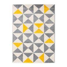 forsa tapis de salon jaune et anthracite 160x230 cm achat vente tapis 100 - Achat Tapis Salon