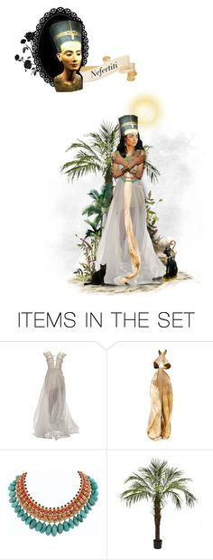 """""""19. Nefertiti, Queen of Egypt"""" by chomiczynka ❤ liked on Polyvore featuring arte"""