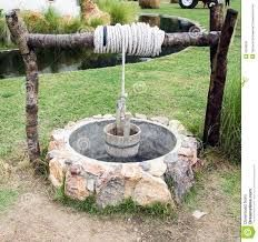Photo about Water Well with Wooden Bucket. Image of wall, agriculture, garden - 43538243 Outdoor Projects, Garden Projects, Wishing Well Garden, Water Well, Water Water, Garden Deco, Bottle Garden, Old Farm, Exotic Plants