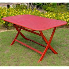 Chelsea Acacia Painted Folding Patio Dining Table - TT-RE-054-MGN
